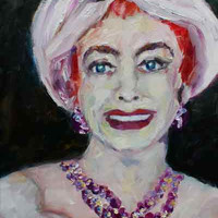 Hollywood Classics Joan Crawford Oil Painting Portrait