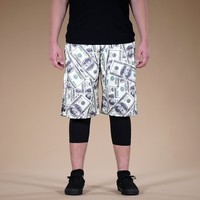 Money Benjamins shorts
