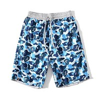 BAPE Women Fashion Camouflage Drawstring Sport Shorts