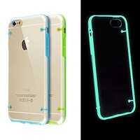 EVERMARKET(TM) Luminous Style Glowing in the Dark Hard Bumper Skin Back Case Cover for iPhone 5 5S , Light Blue