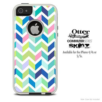 The Fun Colored Zig Zag Skin For The iPhone 4-4s or 5-5s Otterbox Commuter Case