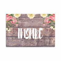 """Suzanne Carter """"Inspire"""" Contemporary Typography Aluminum Artistic Magnet"""