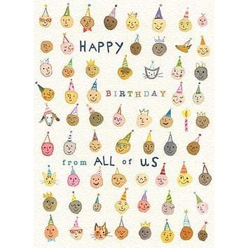 All Of Us Birthday Card