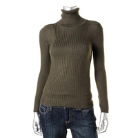 INC Womens Ribbed Knit Turtleneck Pullover Sweater