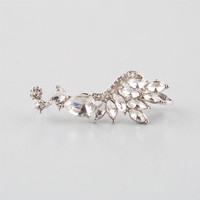 Full Tilt Rhinestone Ear Cuff Silver One Size For Women 25143014001
