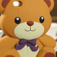 Teddy Bear Silicone Protective Smartphone Case Iphone 5, 5s, 5c