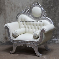 French Reproduction Baroque Victorian Wedding Chair