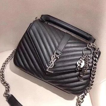 YSL 2019 new female models wild rhombic shoulder bag chain bag Messenger bag