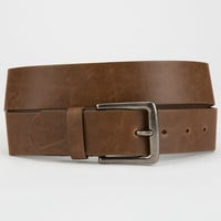 Faux Leather Belt Brown  In Sizes