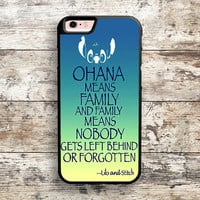 iPhone 6 6s 5s 5c 4s Cases, Samsung Galaxy Case, iPod Touch 4 5 6 case, HTC One case, Sony Xperia case, LG case, Nexus case, iPad case, ohana means Lilo and Stitch Cases