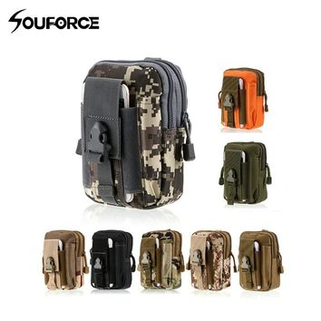 8 Color Multifunction Tactical Military Molle Hip Waist Belt Wallet Pouch Purse Phone Case with Zipper Outdoor Sport Package