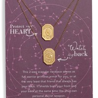 Dogeared Protect My Heart, Watch My Back Scapular Two-Way Necklace | Nordstrom