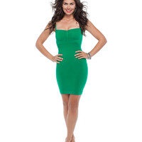The Major Mini Dress: Emerald