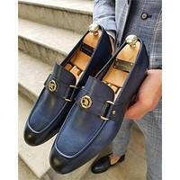 Leather Slip-on Shoes Casual Formal Shoe