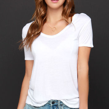 Let's V Friends Ivory Tee