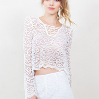 Crossed Hearts Lace Top