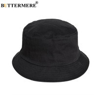 BUTTERMERE Mens Bucket Hat Cotton Female Casual Black Fisherman Hats Stylish Designer Spring Summer Packable Beach Fishing Cap