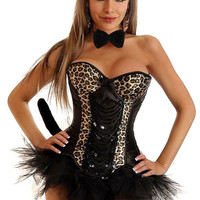 5 PC Sexy Pin-Up Leopard Costume
