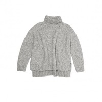 Vanessa Bruno Athe Brochet Alpaca Sweater in Gris Chine | The Dreslyn