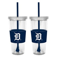 Detroit Tigers 2-pc. Double-Walled Straw Tumbler Set (Tgr Team)