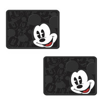 Disney Mickey Mouse Expressions Rear Floor Mats Rubber