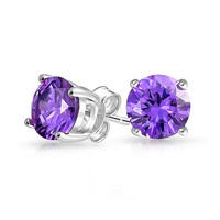Bling Jewelry Purple Rain Studs