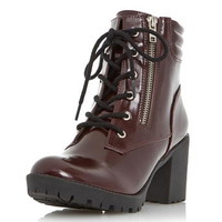 **Head Over Heels 'Parlay' Cleated Heeled Boots