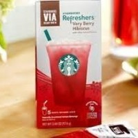 Starbucks Refreshers Very Berry Hibiscus Instant Beverage 5 Packets Inside Box