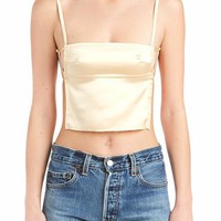 Satin Backless Crop Top