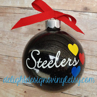 Large Pittsburgh Steelers Ornament - Christmas, Holidays, Custom