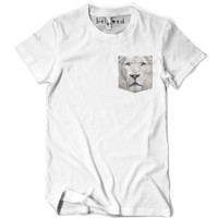 White Lion Pocket Tee