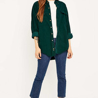 Urban Renewal Vintage Customised Green Pinwell Corduroy Shirt - Urban Outfitters