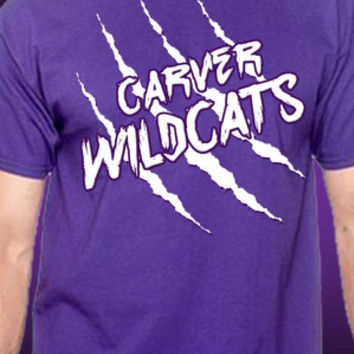 Carver Wildcats Claw Slash T-Shirt