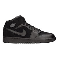 Jordan Mid 1 Black/Dark Grey-Black (GS) 554725 050 Youth Sizes 6.5Y 7Y