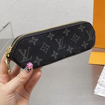 LV Louis Vuitton new letter printing pattern pencil case cosmetic brush bag #5