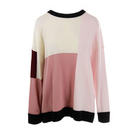 Kate Spade Womens Wool Colorblock Pullover Sweater