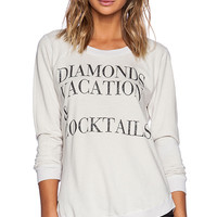 Chaser Diamonds Vacation & Cocktails Tee in Ivory