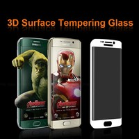 Colorful Full Cover Glass Tempered Film Screen Protector for Samsung Galaxy S6 Edge G9250 S7 EDGE S8 Color gold Black