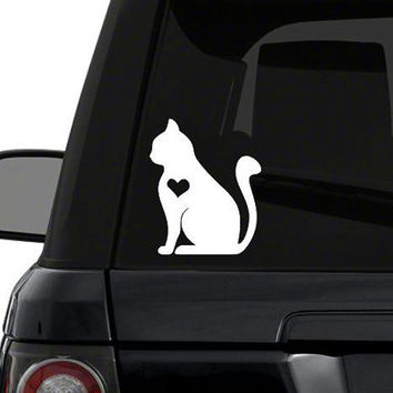 Cat Heart Decal | Cat Mom Decal | Cat Baby Decal | Cat Dad Decal | Cat Family Decal | Love Sticker | Love Decal  | 232