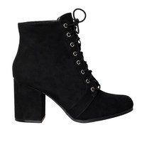 Valerie Lace-Up Ankle Booties-FINAL SALE