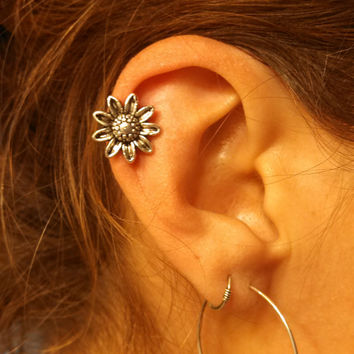 Sunflower Cartliage Earring Tragus Helix Conch Piercing