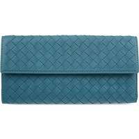 BOTTEGA VENETA - Intrecciato woven leather continental wallet | Selfridges.com