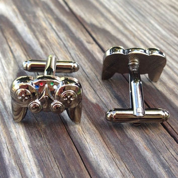 Video Game Controller cuffilnks, PS3 PS4 Xbox Playstation wii nintendo gamer geek console video games controllers cuff links