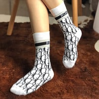 Dior Winter Popular Women Personality Cotton Sport Socks