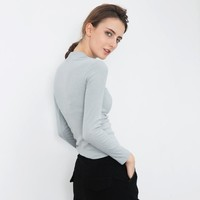 Slim Korean Winter Long Sleeve T-shirts Cotton Women's Fashion Bottoming Shirt [9022837575]