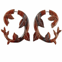 Fake gauges.Ivy 1. Wood Earrings.