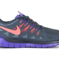 NIKE Womens Free 5.0 Dark Magnet Grey/Bright Magenta/Hyper Grape | Nike Shoes | The Athletes Foot