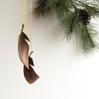 Handmade Wooden Feathers - set of two