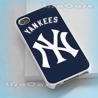 New York Yankees, iPhone case, iPhone 4/4S case, iPhone 5 Case, Samsung GAlaxy S3/S4 Case, Photo prind hard Plastic