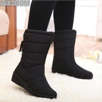 New 2018 fashion fur female warm ankle boots women boots snow boots and autumn winter comfortable plus size 35-40 shoes W703W